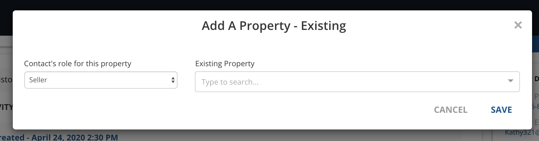 Add a property existing